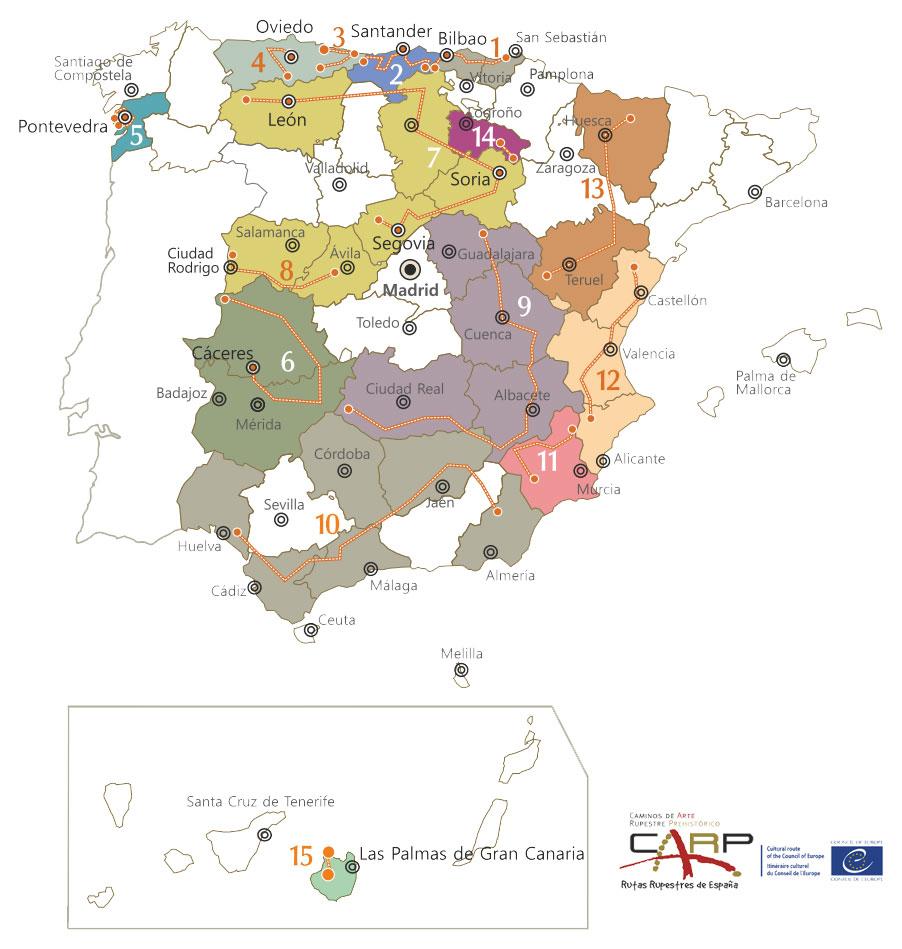 Rutas de Arte Rupestre en España (ampliable)
