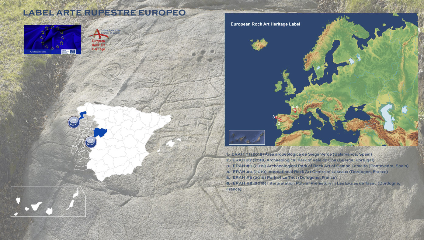 Destinos que han obtenido el certificado 'Arte Rupestre Europeo'