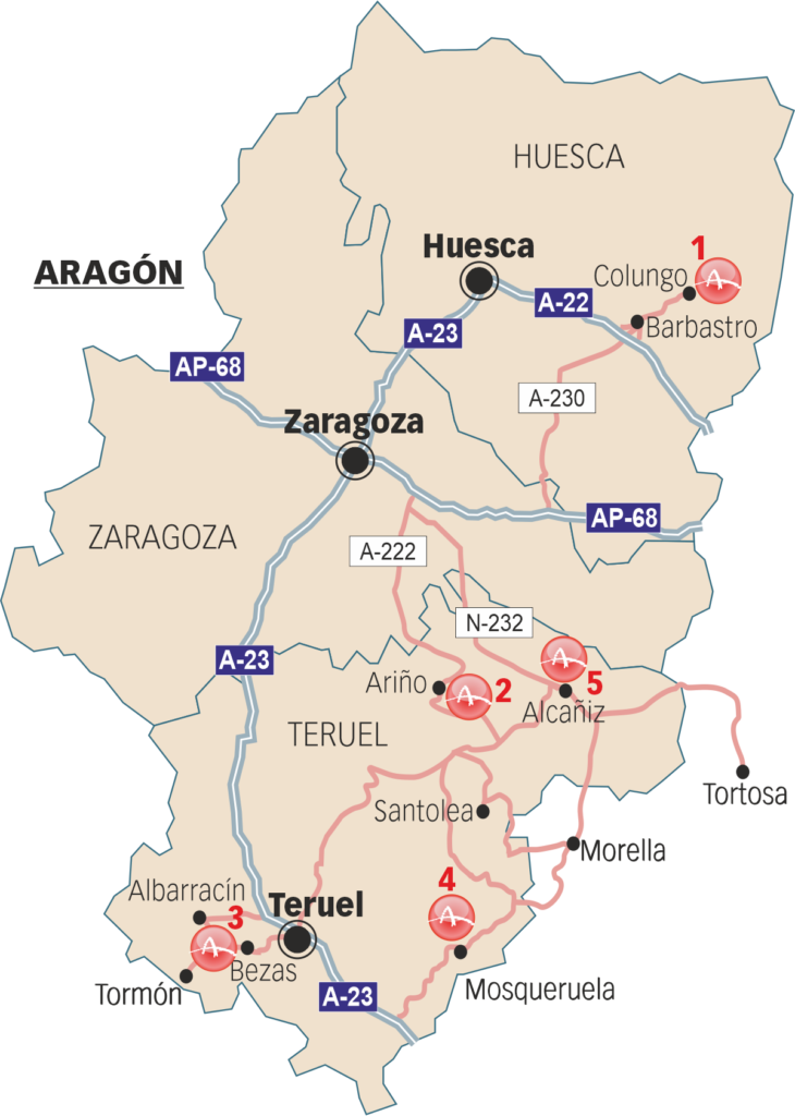 Sites that can be visited in Aragon