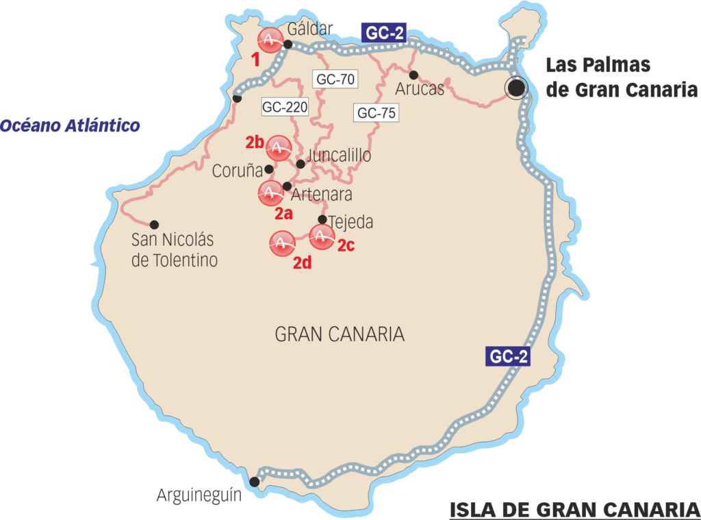 Sites that can be visited in Gran Ganaria