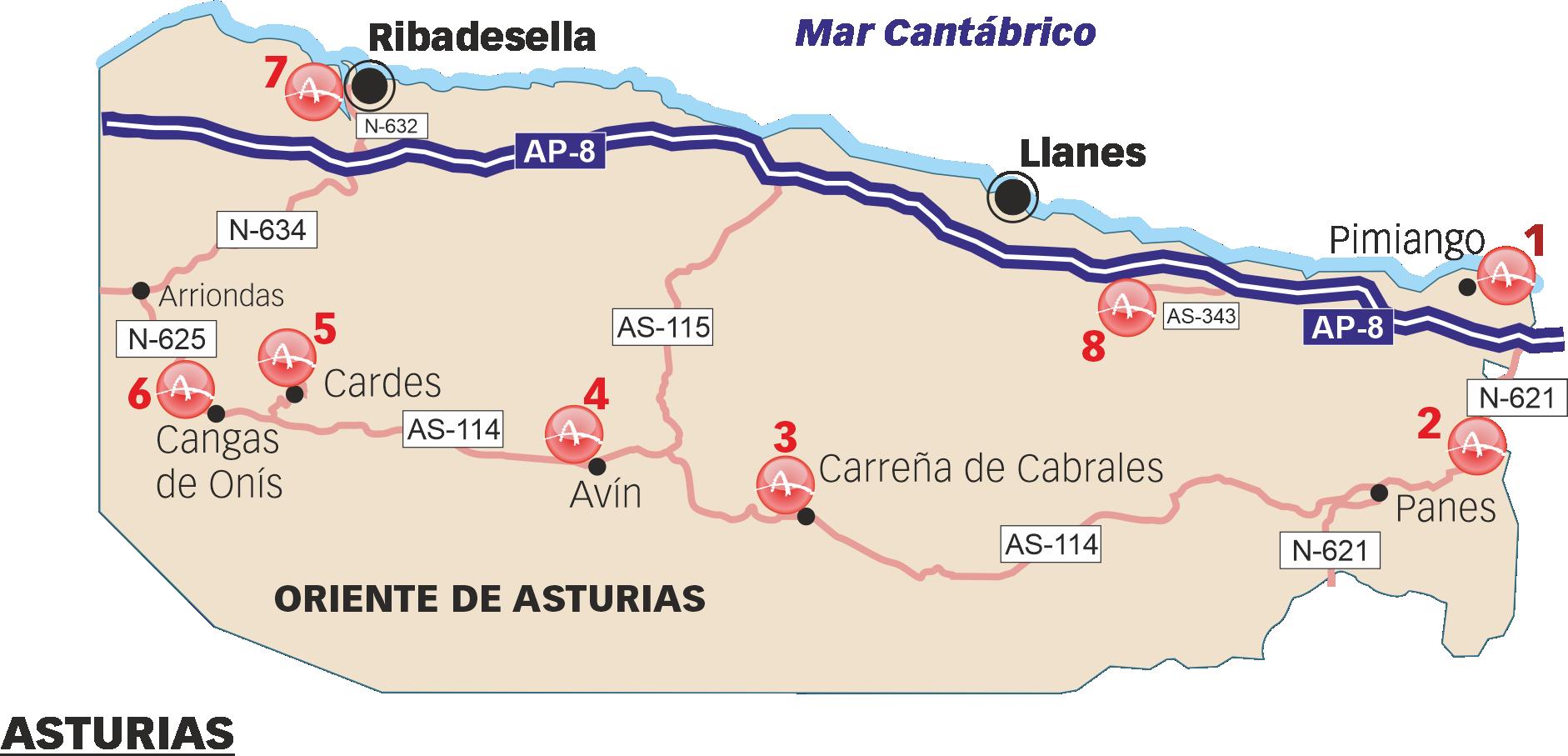 Sitios rupestres visitables en el Oriente de Asturias