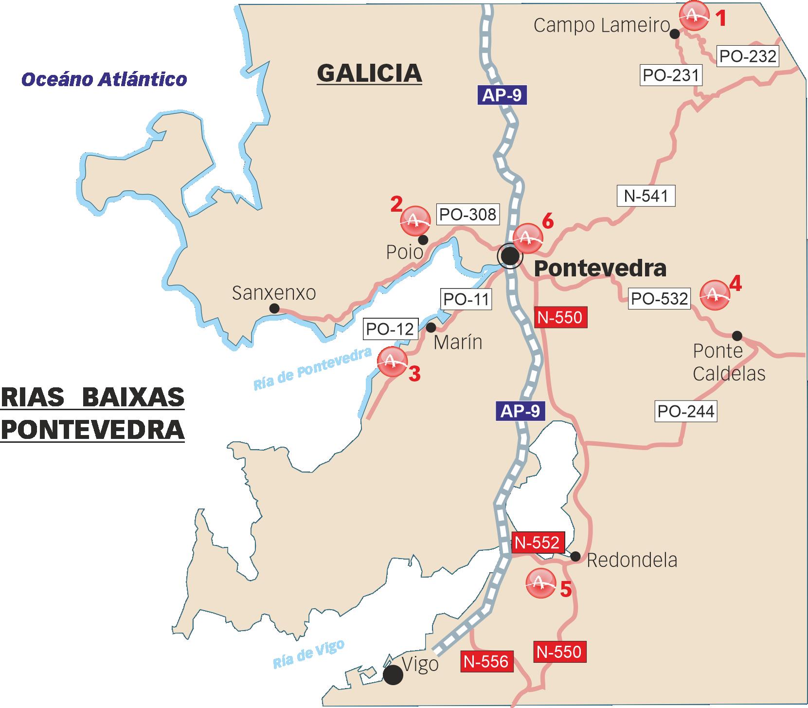 Sitios visitables de arte rupestre en Pontevedra
