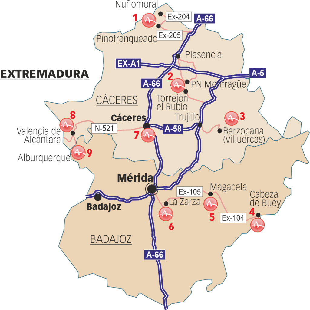 Sites that can be visited in Extremadura