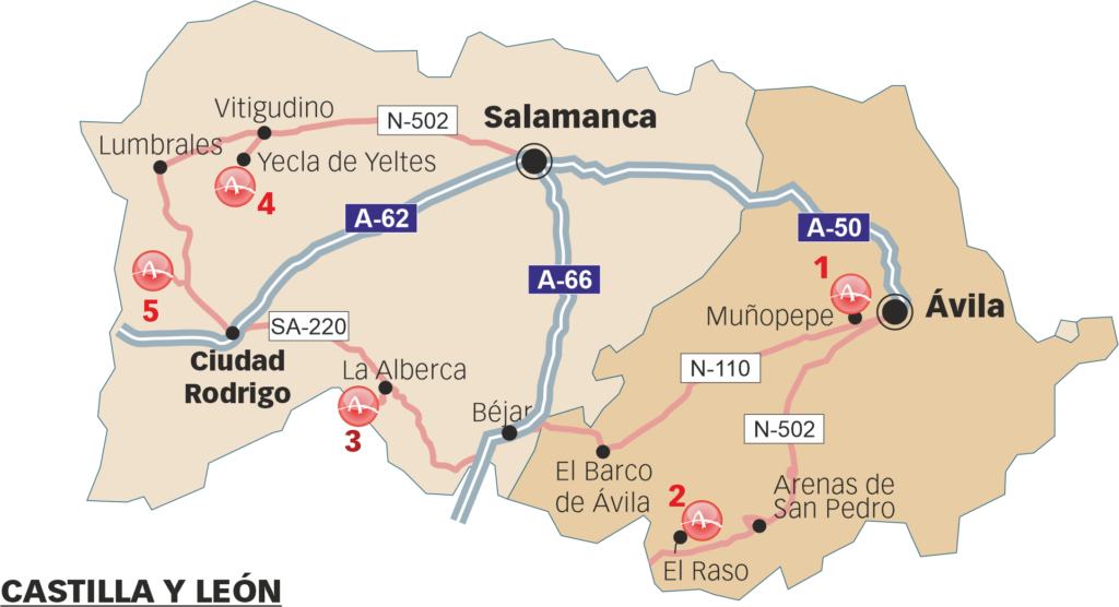 Sites that can be visited in the souteast of Castilla y León
