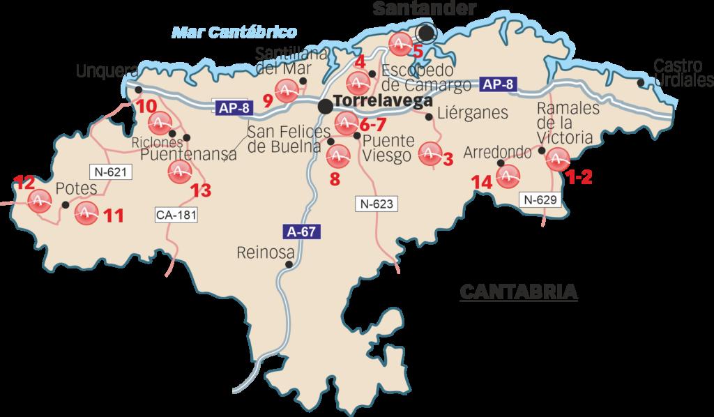 Sitios que pueden ser visitados en Cantabria
